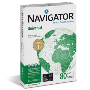 Navigator Universal kopiopaperi A4 80g, 1 kpl = 500 arkkia