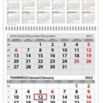 Ajasto Trio seinäkalenteri 2022 290 x 415mm